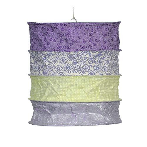 mitienda mit Liebe gemacht Pantalla de lámpara Toscana, color lila y verde, para niños, lámpara...