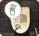 5-er Set - Pissoir-Zielhilfe, Urinal-Zielhilfe, Zielhilfe für Pinkelbecken - Blumentopf