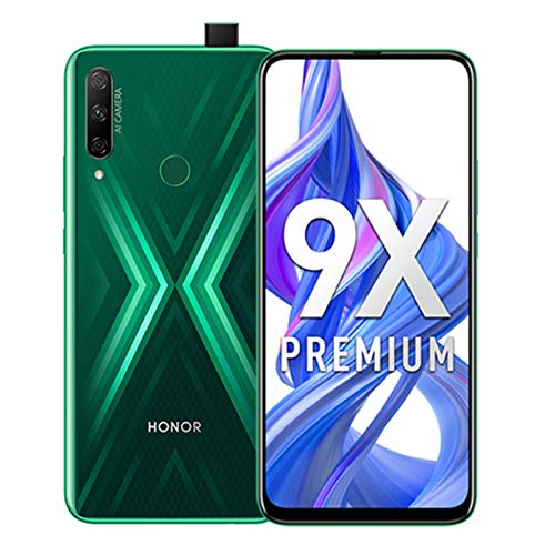Honor 9X 6.59 Pulgadas Smartphone, 4GB 128GB, 48 MP AI Tripe Camera, 16MP Cámara Frontal emergente Selfie, Dual SIM gsm Desbloqueado 4G LTE Android 9.0, Verde