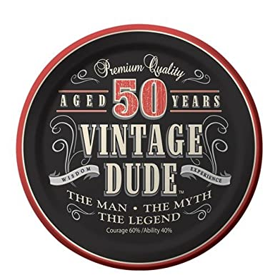 Funny 50th Birthday Cake Topper Cut from 3mm Red Acrylic High Quality for Men /&