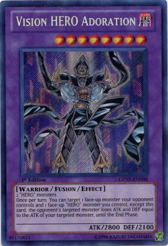 Yu-Gi-Oh! - Vision Hero Adoration (GENF-EN096) - Generation Force - 1st Edition - Secret Rare