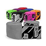 Sanabul Elastic Professional 180 inch Handwraps for Boxing Kickboxing Muay Thai MMA (Silver, 180 inch)