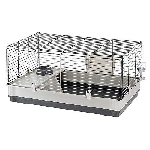 Ferplast Cage pour Lapins Krolik Large, 50 x 100 x 60 cm, Grise