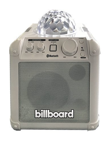 Billboard Party Portable Bluetooth Wireless Speaker with Multi Colored LED Disco Ball Light Show -Black (BB587)