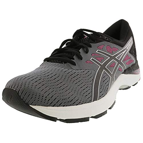Asics Frauen Gel-Flux 5 Schuhe, 37 EU, Carbon/Black/Fuschia Red