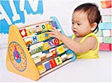 Lodestone Wooden Educational & Learning Activity Triangle Box For Kids (Multi-Color)