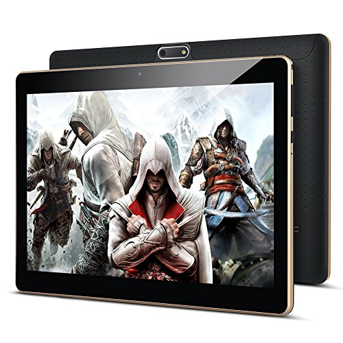 Tablet 10 Zoll Android 8.0, Padgene Android Tablet PC 10,1 Zoll Quad Core IPS HD Pad mit 2G RAM 32G Speicher Dual SIM Slots Dual Kamera WiFi/3G Entsperrt Bluetooth 4,0 GPS Handyfunktion(Schwarz)