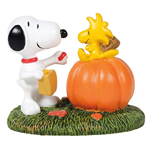 Department 56 Peanuts Village Accessories Halloween Treat for Woodstock Figurine, 1.625 Inch, Multicolor