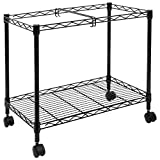 Mount-It! Rolling File Cart with Wheels   Mobile Hanging File Folder Rack   Single Tier with Storage Rack and Locking Casters   Fits Letter and Legal Size Filing Folders   23' W x 13.5' D x 20' H
