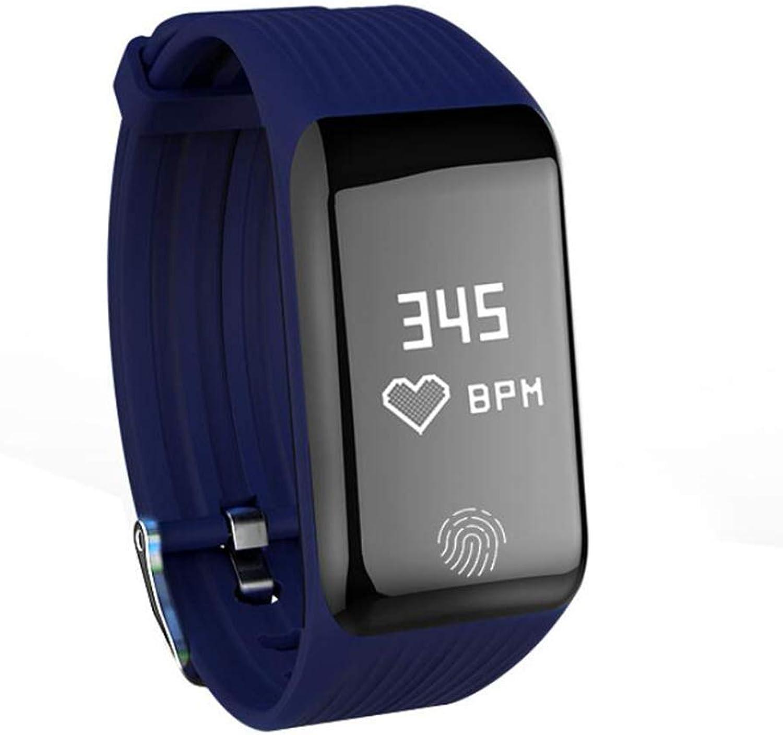 Fuxitoggo Ununterbrochener dynamischer Herzfrequenz-intelligenter Uhr-Schlaf-Gesundheits-überwachung IP67 wasserdichter Sportrekord für Frau und Mann, blau (Farbe   -, Gre   -)