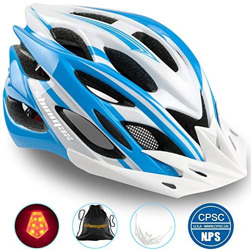 Casco Bicicleta/Casco Bicic con Luz LED,Certificado CE,Casco