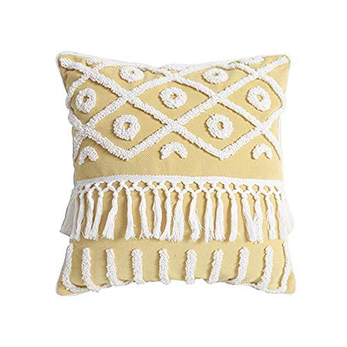Federa cuscino Federa quadrata con cuscino in vita indiano trapuntato fatto a mano senza fodera per cuscino stereo con ricamo