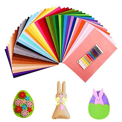 SOLEDI Fieltro Manualidades Tela no Tejido de Lana 41 Colores, Material para Costura y Artesanías de Bricolaje (20 * 30cm)