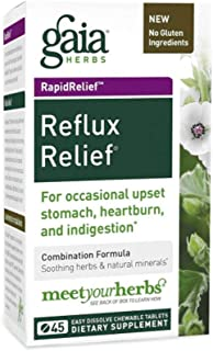 Reflux Relief, 45 Tabs by Gaia Herbs (Pack of 2)