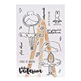 Ballerina Cartoon Silikon Siegel Stempel DIY Scrapbooking Fotoalbum Dekoration