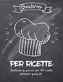 Quaderno Per Ricette: Registro personalizzato per annotare 110 dei tuoi piatti preferiti   Trasforma tutti i tuoi appunti in un bellissimo libro di cucina!