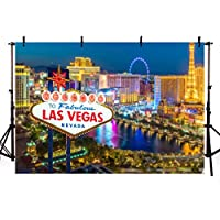 comophoto写真バックドロップCity Street Las Vegas Night Sign新生児の背景写真スタジオ小道具