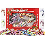 """Christmas Candy Canes Mini s Suckers, Multicolored Peppermint Flavor, Individually Wrapped, 2"""" Inch, Net WT 4.42oz (125g), 25-Pack"""