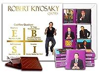 "DA CHOCOLATE キャンディ スーベニア ""ROBERT KIYOSAKI"" チョコレートセット 5×5一箱 (Quadrant)"