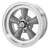 American Racing Custom Wheels VN105 Torq Thrust D Torq Thrust Gray Wheel With Machined Lip (14x6'/5x120.7mm, -2mm offset)