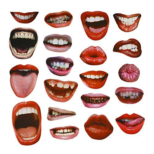cutebows 20PCS lustige reizvolle Lippen-Mund-Foto-Stand-Stützen für Hochzeits-Party-Wiedervereinigungs-Geburtstage