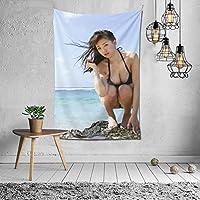 篠崎愛(しのざきあい 、Shinozaki Ai) タペストリー インテリア 壁掛け おしゃれ 室内装飾 多機能 寝室 カーテン おしゃれ 個性ギフト 新築祝い 結婚祝い プレゼント ウォール アート(60in*40in)