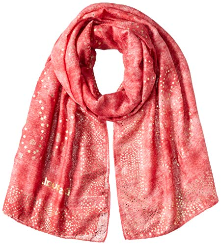 Desigual Damen FOUL_GALAXY Schal, Rot (Red Ocre 3069), One Size (Herstellergröße: U)