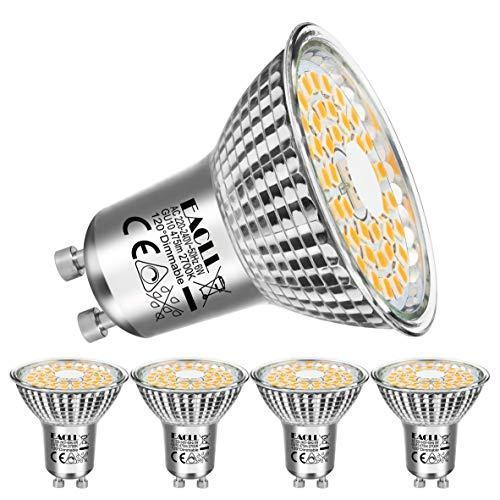 EACLL Bombillas LED GU10 Regulable 2700K Blanco Cálido 6W Fuente de Luz...