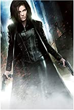 Underworld Kate Beckinsale as Selene in Corseted Catsuit and Trench with Two Guns 8 x 10 Photo