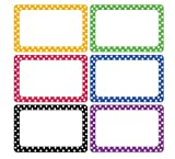 Cualfec 300 Cute Dot Name Tag Stickers Colorful Border Name Labels for School, Office, Home Can Be Used on Clothes, Storage Boxes, Packages - Updated Stronger Stickiness