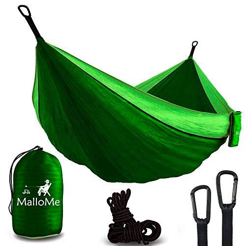MalloMe Hammock Camping Portable Double Tree Hammocks - Outdoor Indoor 2 Person Beach Accessories...