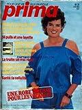 PRIMA [No 21] du 01/06/1984 - JERSEY DE COTON - ROBE - 14 PULLS - MAISON-JARDIN - BALANCELLES - LA TRUITE - BOITES EN VANNERIE - SANTE - LA CELLULITE.