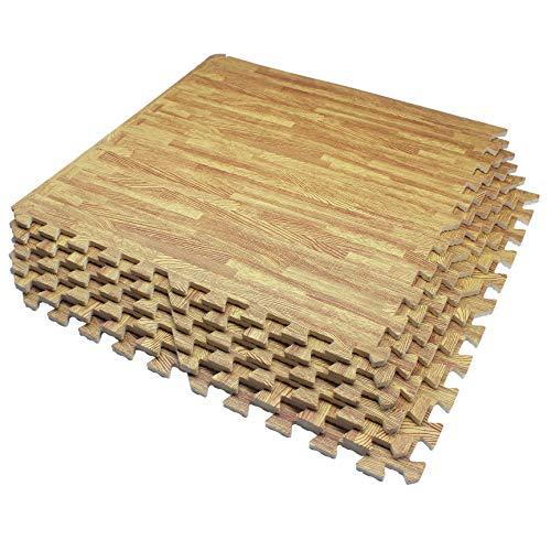 UMI. Essentials 2' x 2'(60cm x 60cm) Ineinandergreifende Bodenmatten aus Schaumstoff (Holzmaserung) (6 Pcs,Licht) …