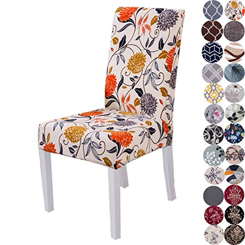 Lalluxy Stretchy Parson Chair Slipcovers for Dining Room Chair seat Covers Chair Protectors for Party Pet Protection Universal Fit Soft Polyester (Set...