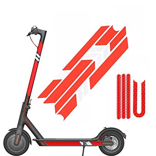 Nobranded Reflektierende Folie Aufkleber Set Für Xiaomi Mijia M365 E-Roller und Ninebot Es1 / Es2 / Es4 Elektroroller Zubehör