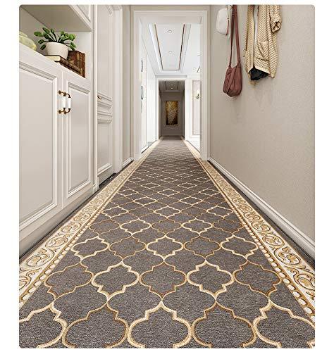 Amcerd Teppich Läufer Flur, Korridor Teppich, Waschbare Küchenteppich Küchenläufer, Fußmatte Türmatte, Modern Teppichläufer Flurläufer, Länge Anpassbare for Corridor
