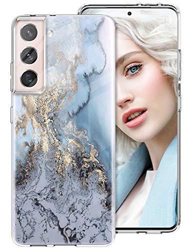 DIMIYER Galaxy S21 Custodia compatibile con Samsung Galaxy S21 Custodia Ultra Sottile Trasparente Silicone TPU Cover Morbida Antiurto Anti Scratch Cover per Samsung S21