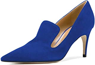 YDN Womens YN8019670D Pointed Toe Thin Mid Heel Loafer Pumps