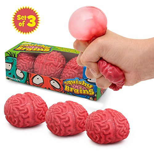 IPIDIPI TOYS Squishy Brain Fidget Splat Ball - 3 Pack - Anti Stress - Popping for Adults Children - Anxiety Reducer Sensory Play - Increases Focus Suitable for ADHD and Autism - Fun Toy for Halloween
