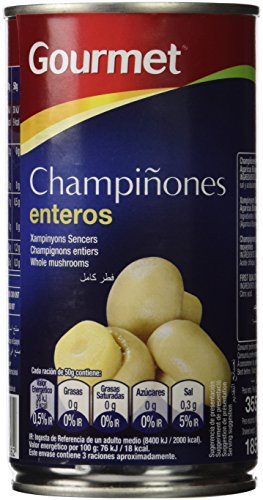 Gourmet - Champiñón Entero Medio Primera 185 g