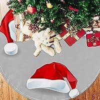 ツリースカート クリスマスツリースカート 赤い 帽子 クリスマス ホリデーデコレーション メリイクリスマス飾り 下敷物 可愛い 雰囲気 クリスマスパーティー 直径107cm