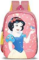 Priority Disney Snow White 25 litres Pink Polyester Kids School Bag | Casual Backpack for Girl's (25156)