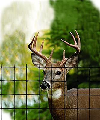 Tenax 2A120052 Economy Deer Control Fence, 4' x 330', Black