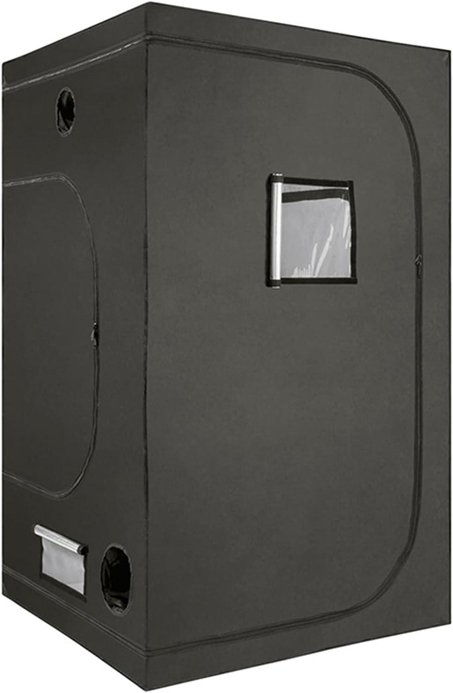 AJLDN Armario Cultivo Interior, 60x60x120cm Mylar HidropÓNica Crecer Tienda Water-Resistant Grow Tent Caja de Cultivo Interior para Cultivo De Plantas En Interior,Black