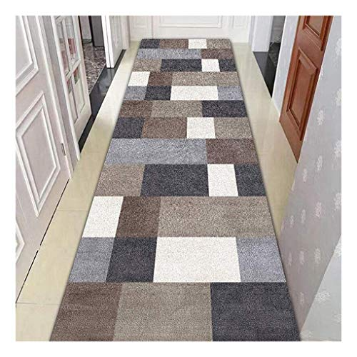 WenFei shop Area Rugs,Runner Rugs for Hallway Modern Geometric, Non Slip Carpets, 3D Printing Patterns Custom Made Modern Bedroom Bed Trim Corridor Carpe