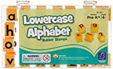 Educational Insights Alphabet Rubber Stamps - Lowercase 5/8', Set of 26 Letters and 4 Punctuation Marks: Perfect for Homeschool & Classroom, Ages 4+