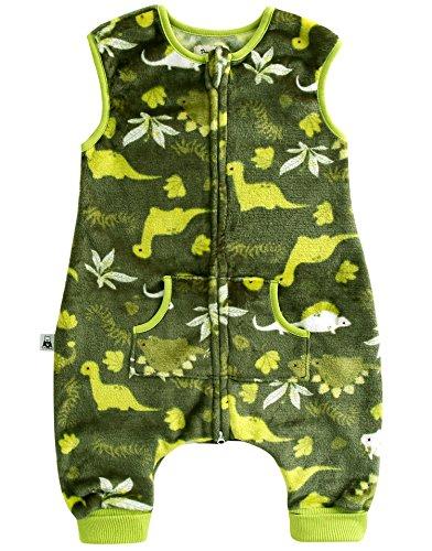 Vaenait Baby Jungen Baby Schlafsack Ultrasoft Mikrofaser Sleepsack Dino Park Green M