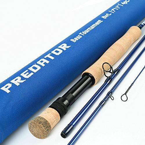 Maximumcatch Predator Fliegenrute für Salzwasser Fliegenfischen Rute: 4 Teile, Angelnrute in 8/9/10/12wt (9\' 8wt)