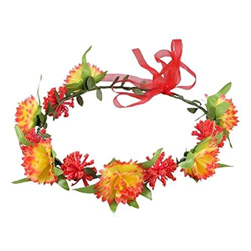 Sch?ne Handcrafted Haar Crown Kopfbedeckung Meer Blumen Kranz, Rot
