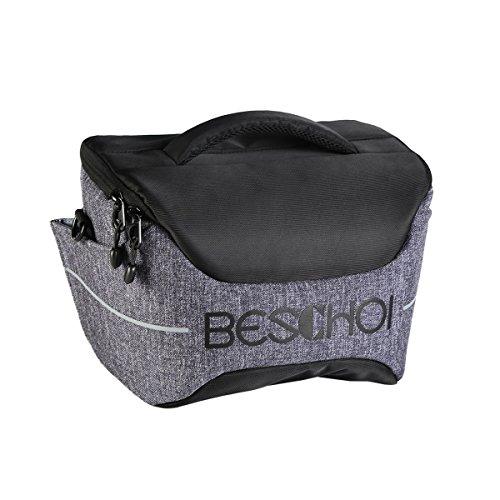 Beschoi Gepolsterte Fototasche SLR Kameratasche mit Laptopfach Kamera Umhängetasche mit Schultergurt für Canon Nikon Sony DSLR Kamera, Objektiv und Zubehör
